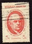 Sellos de America - Argentina -  Domingo F Sarmiento