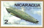 Stamps America - Nicaragua -  75 Aniversario de Zeppelin 1902-77