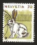 Sellos de Europa - Suiza -  1364 - un conejo