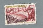 Stamps France -  Barrage de Vouglans Jura