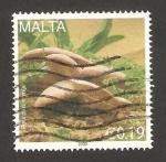 Stamps Malta -  champiñón, pleurotus eryngii