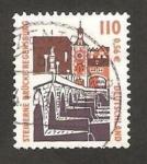 Stamps Germany -  1973 - puente de piedra de Regensburg