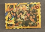 Stamps Europe - Ukraine -  Multitud celebrando