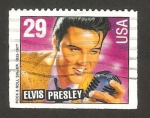 Sellos del Mundo : America : Estados_Unidos : elvis presley, cantante y actor