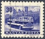 Stamps Hungary -  autobus