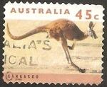 Stamps : Oceania : Australia :  un canguro