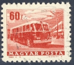 Stamps Hungary -  autobus electrico