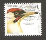 Stamps : Europe : Portugal :  pájaro de peto verde