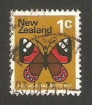 Stamps : Oceania : New_Zealand :  mariposa, amiral roja