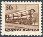 Stamps Hungary -  vagon de ferrocarril