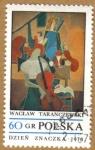 Stamps Europe - Poland -  Pintura Dzien Znaczka 1970