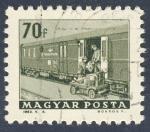 Stamps Hungary -  vagon postal