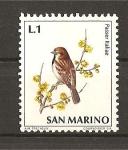 Sellos de Europa - San Marino -  Pajaros.