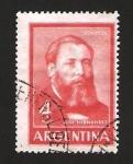 Sellos del Mundo : America : Argentina : josé hernández, poeta, político y periodista