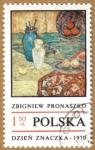 Sellos de Europa - Polonia -  Pintura Dzien Znaczka 1970