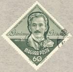 Stamps Hungary -  Gardonyi Geza 1863-1922