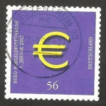 Stamps Germany -  2062 - circulación de monedas y billetes en euros