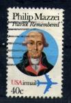 Sellos de America - Estados Unidos -  philip mazzei