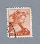 Stamps Italy -  Pintura M. Ángel