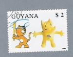 Stamps : America : Guyana :  Mascotas Olimpiadas
