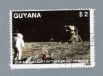 Stamps : America : Guyana :  20  th Anniversary of the Manon the Moon