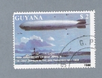 Stamps Guyana -  150 th Anniversary of the Birth of Graf Zeppelin