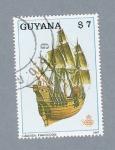 Sellos de America - Guyana -  Barco Grande Françoise