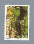 Stamps : America : Guyana :  Pájaro Starling