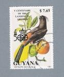 Sellos del Mundo : America : Guyana : Pájaro Ostinops Decumanus
