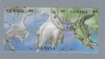 Stamps : America : Guyana :  Dinosaurios