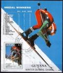 Sellos del Mundo : America : Guyana : Juegos olimpicos de inierno  Calgary 88.