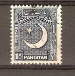 Stamps Pakistan -  LUNA  Y  ESTRELLA
