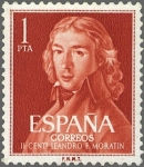 Stamps : Europe : Spain :  IICENTENARIO DEL NACIMIENTO DE LEANDRO FERNANDEZ DE MORATIN
