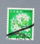 Sellos de Asia - Japón -  Flores (repetido)
