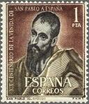 Sellos de Europa - España -  XIXcentenario de la venida de san pablo a españa