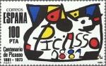 Stamps Spain -  homenaje a pablo ruiz picasso