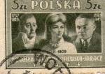 Sellos de Europa - Polonia -  cine polak