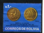 Stamps America - Bolivia -  monedas de bolivia