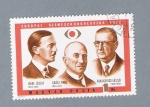 Stamps Hungary -  Tres Hombres
