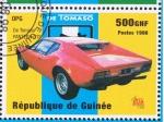 Stamps Guinea -  De Tomaso  PANTERA GTS