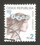 Stamps : Europe : Czech_Republic :  246 - Virgo, signo del Zodiaco