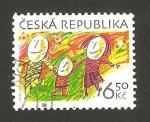 Sellos de Europa - República Checa -  la familia