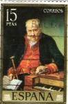 Stamps : Europe : Spain :  el organista f lopez