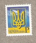 Sellos de Europa - Ucrania -  Escudo nacional