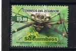Sellos del Mundo : America : Ecuador : Escarabajo arlequín  ( Acrocinus longimanus )