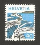 Stamps Switzerland -  vista de lavaux (vaud)
