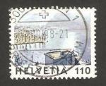 Stamps Switzerland -  Pintura de Jean Frederic Schnyder