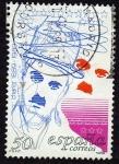 Stamps Spain -  Charles Chaplin