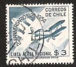 Sellos del Mundo : America : Chile : 25° ANIVERSARIO LINEA AEREA NACIONAL