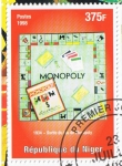 Sellos del Mundo : Africa : Níger : 1934   Sortie du Jeu de Monopoly
